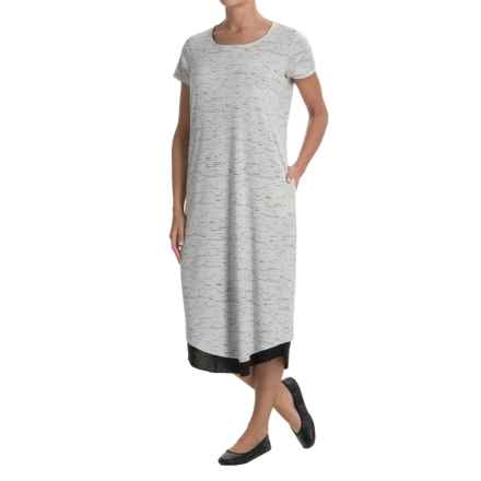 ExOfficio Wanderlux Reversible T-Shirt Dress - UPF 30, Short Sleeve (For Women) in Platinum Marl/Black - Closeouts