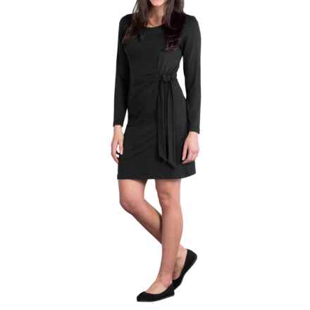 ExOfficio Wanderlux Salama Dress - UPF 30, Long Sleeve (For Women) in Black - Closeouts