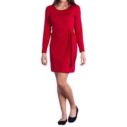 ExOfficio Wanderlux Salama Dress - UPF 30, Long Sleeve (For Women) in Carmine - Closeouts