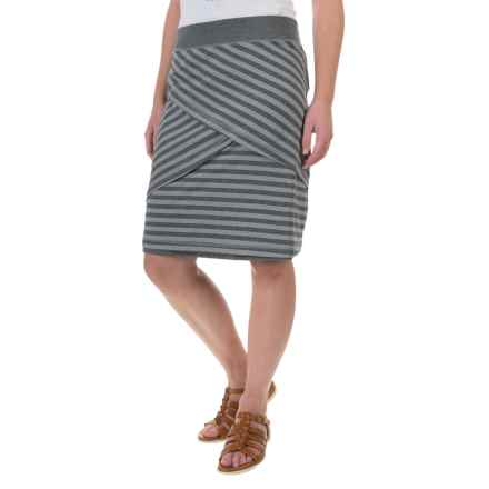 ExOfficio Wanderlux Stripe Reversible Skirt - UPF 30+ (For Women) in Charcoal Heather - Closeouts