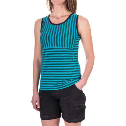 ExOfficio Wanderlux Stripe Tank Top - UPF 30 (For Women) in Deep Sea - Closeouts