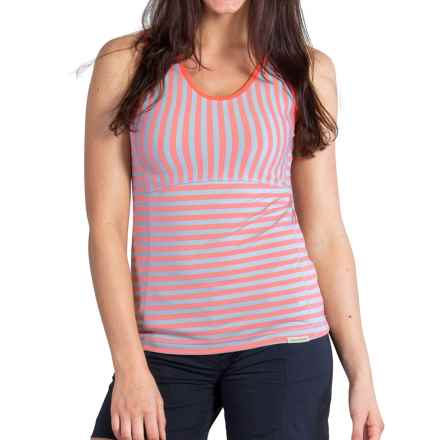 ExOfficio Wanderlux Stripe Tank Top - UPF 30 (For Women) in Hot Coral - Closeouts