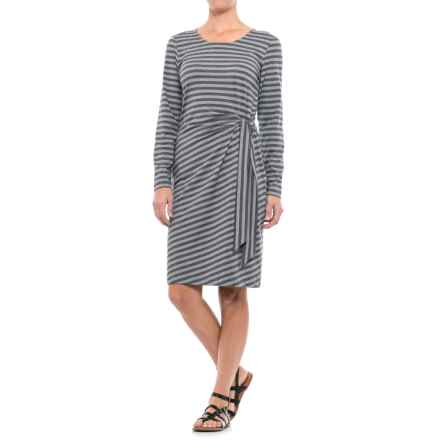 ExOfficio Wanderlux Striped Salama Dress - UPF 30, Long Sleeve (For Women) in Charcoal Heather - Closeouts