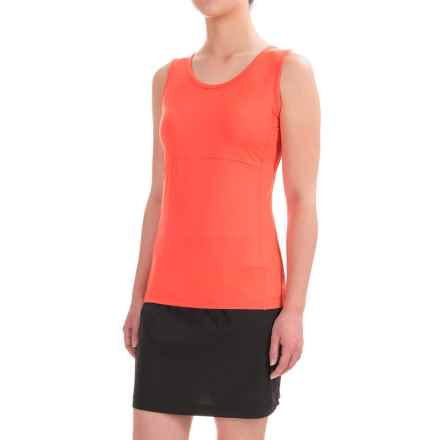 ExOfficio Wanderlux Tank Top - UPF 30 (For Women) in Hot Coral - Closeouts