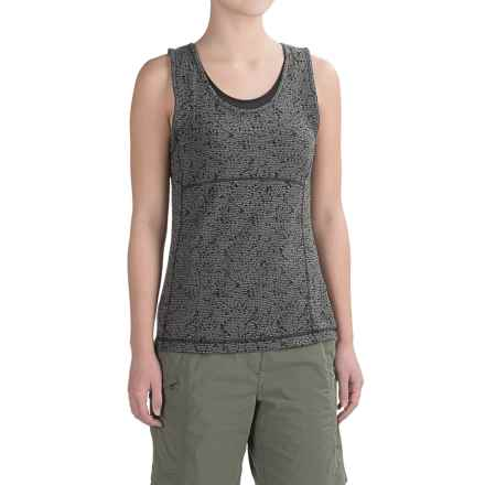 ExOfficio Wanderlux Texture Tank Top - UPF 30 (For Women) in Charcoal Heather - Closeouts