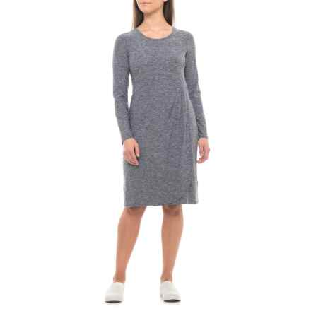 ExOfficio Wanderlux Tulipa Marl Dress - UPF 30, Long Sleeve (For Women) in Black Marl - Closeouts