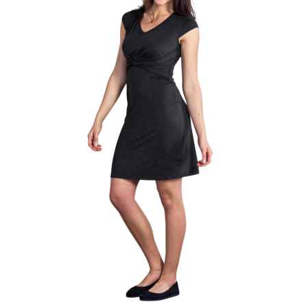 ExOfficio Wanderlux Twist Dress - UPF 30+, Short Sleeve (For Women) in Black - Closeouts