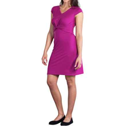 ExOfficio Wanderlux Twist Dress - UPF 30+, Short Sleeve (For Women) in Mulberry - Closeouts