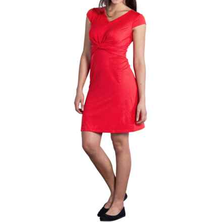 ExOfficio Wanderlux Twist Dress - UPF 30+, Short Sleeve (For Women) in Sriracha - Closeouts