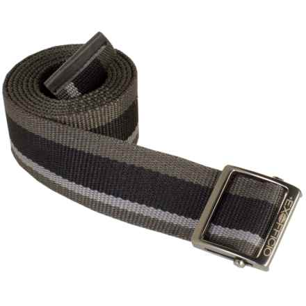 ExOfficio Web Belt (For Men and Women) in Black Stripe - Closeouts