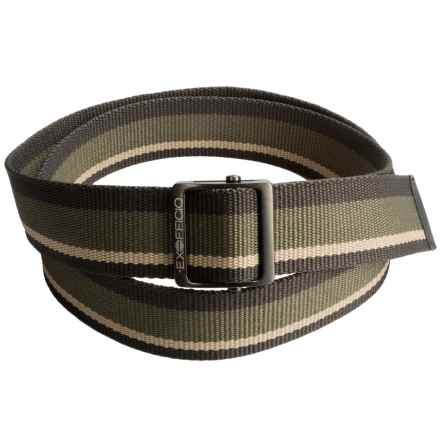 ExOfficio Web Belt (For Men and Women) in Khaki Stripe - Closeouts