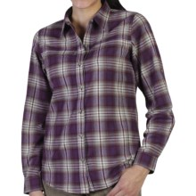 ExOfficio Windrose Flannel Plaid Shirt - Long Sleeve (For Women) in Dark Verbena - Closeouts