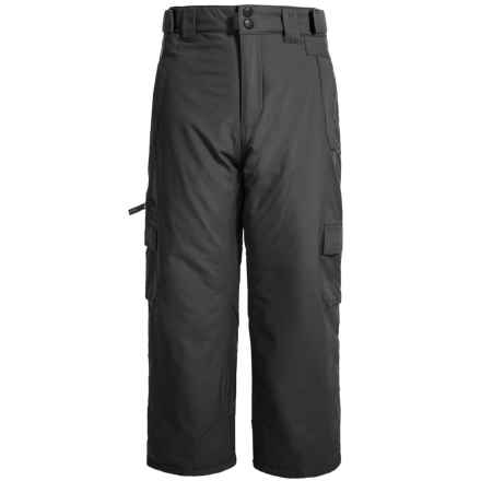 EXP Cargo Snow Pants - Insulated (For Little and Big Kids) in Black - Closeouts