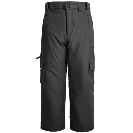 EXP Cargo Snow Pants - Insulated (For Little and Big Kids) in Black