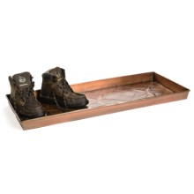 """Extra Weave USA Rectangular Boot Tray - 34x14x2"""", Galvanized Iron in 3 Star - Closeouts"""