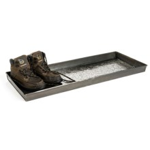 "Extra Weave USA Rectangular Boot Tray - 34x14x2"", Galvanized Iron in Medallion Zinc - Closeouts"