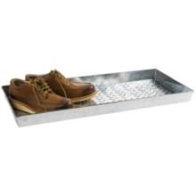 Extra Weave USA Rectangular Boot Tray - Galvanized Aluminum in Chevron Tile - Overstock