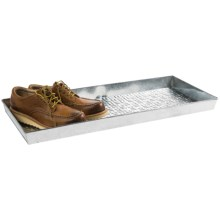 Extra Weave USA Rectangular Boot Tray - Galvanized Aluminum in Tiles - Overstock
