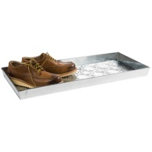 Extra Weave USA Rectangular Boot Tray - Galvanized Aluminum in Trellis - Overstock