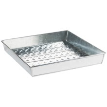 Extra Weave USA Square Boot Tray - Galvanized Aluminum in Basket Weave - Overstock