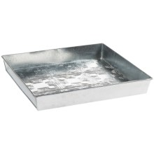Extra Weave USA Square Boot Tray - Galvanized Aluminum in Moroccan Tile - Overstock