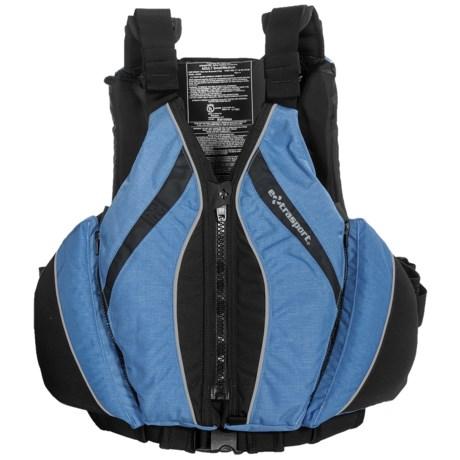 Extrasport Baja PFD Life Jacket - USCG Approved (For Women) in Dusty Blue