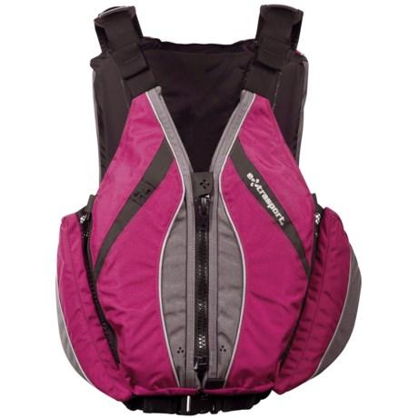 Extrasport Baja PFD Life Jacket - USCG Approved (For Women) in Raspberry/Grey