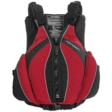 Extrasport Baja PFD Life Jacket - USCG Approved, Type III, PVC-Free (For Men) in Red - Closeouts
