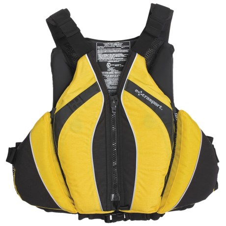 Extrasport Baja PFD Life Jacket - USCG Approved, Type III, PVC-Free (For Men) in Red