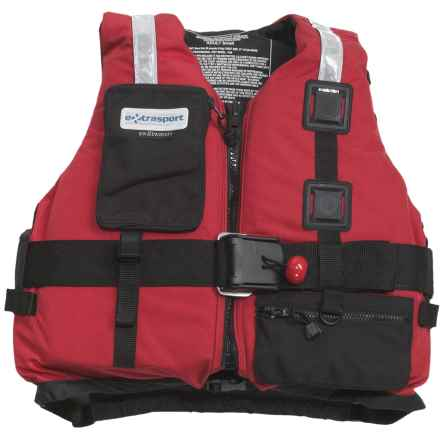 Extrasport Fury PFD Life Jacket - USCG Approved, Type V, PVC-Free in Red/Black - Closeouts