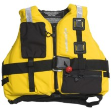 Extrasport Fury PFD Life Jacket - USCG Approved, Type V, PVC-Free in Yellow/Black - Closeouts