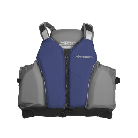 Extrasport Loch PFD Life Jacket - USCG Approved, Type III (For Men and Women) in Blue/Grey