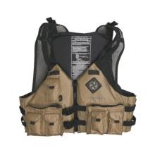 Extrasport Osprey Fishing PFD Life Jacket - USCG Approved, Type III (For Men and Women) in Khaki/Black - Closeouts
