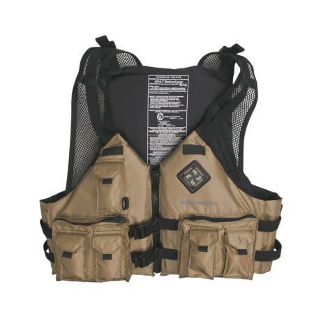 Extrasport Osprey Fishing PFD Life Jacket USCG Approved, Type III (For Men and Women)