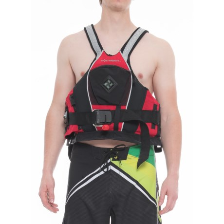 Extrasport Pro Creeker PFD Life Jacket (For Men and Women) in Red/Black
