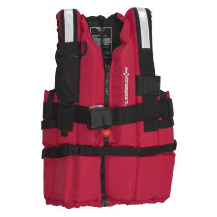 Extrasport Ranger PFD Life Jacket - USCG Approved, Type V (For Men and Women) in Red/Black - Closeouts