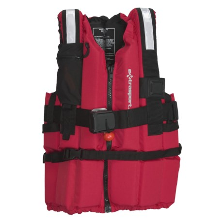 Extrasport Ranger PFD Life Jacket - USCG Approved, Type V (For Men and Women) in Red/Black