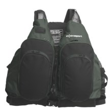 Extrasport Sturgeon PFD Life Jacket - USCG Approved, Type III (For Men and Women) in Olive/Black - Closeouts