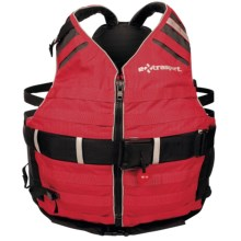 Extrasport Tactical PFD Life Jacket - USCG-Approved, Type V (For Men and Women) in Red/Black - Closeouts