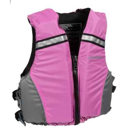 Extrasport Volks Jr. PFD Life Jacket - USCG Approved (For Youth) in Pink/Grey - Closeouts