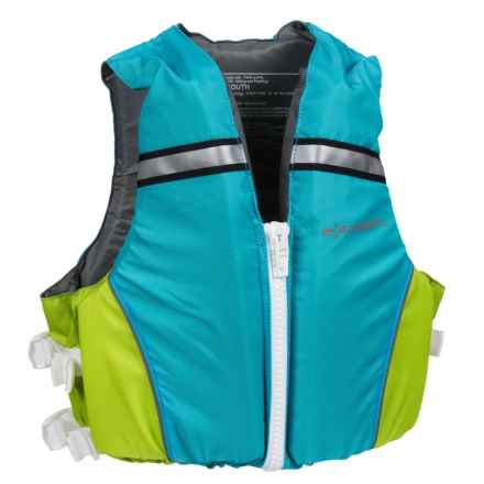 Extrasport Volks Jr. PFD Life Jacket - USCG Approved (For Youth) in Sailblue/Sour Apple - Closeouts