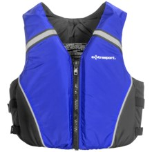 Extrasport Volksvest PFD Life Jacket - USCG Approved, Type III (For Men and Women) in Royal/Black - Closeouts