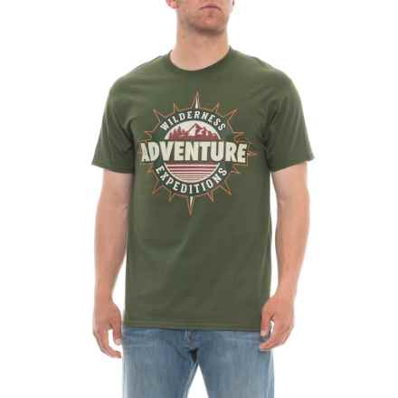 Extreme Concepts Adventure Graphic T-Shirt - Short Sleeve (For Men) in Green - Overstock