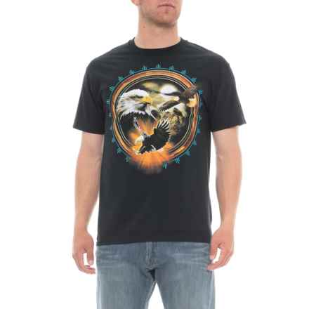 Extreme Concepts Bald Eagle Graphic T-Shirt - Short Sleeve (For Men) in Black - Overstock