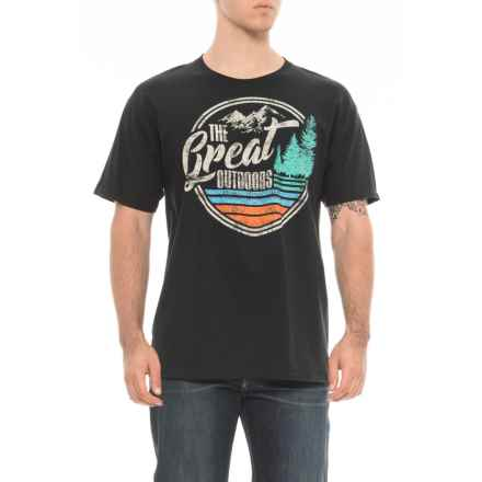 Extreme Concepts Great Outdoors Graphic T-Shirt - Short Sleeve (For Men) in Black - Overstock