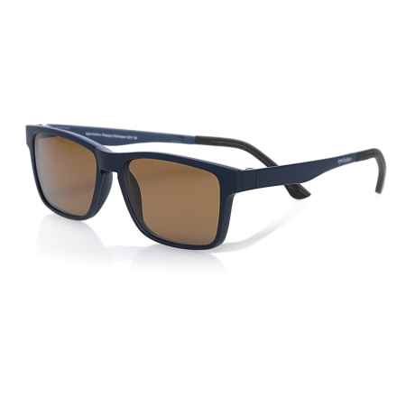 eyebobs Happy Camper Reading Glasses - Clip-On Polarized Lenses (For Men) in Matte Navy/ Polarized Brown - Closeouts