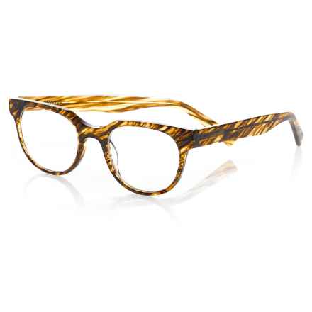 eyebobs Phone It In Reading Glasses (For Men) in Brown Stripes - Closeouts