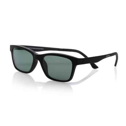 eyebobs Sticky Business Reading Glasses - Clip-On Polarized Lenses (For Men) in Matte Black/Polarized Green - Closeouts