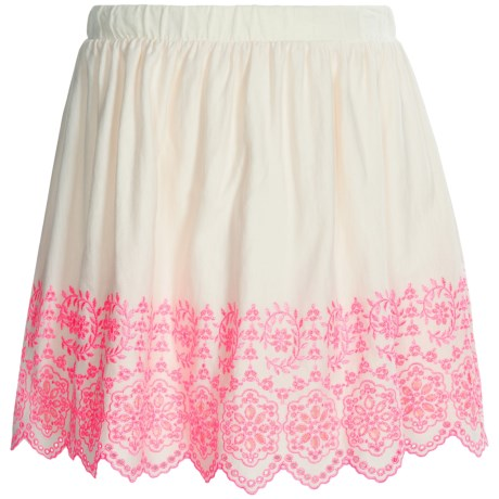 Eyelet Skirt - Fully Lined (For Girls) in Cream