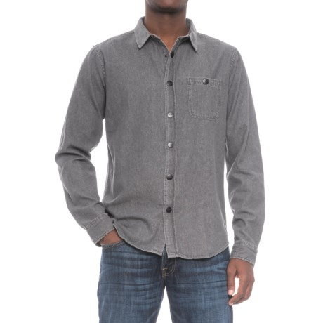 Ezekiel Clynt Cotton Woven Shirt - Snap Front, Long Sleeve (For Men) in Black